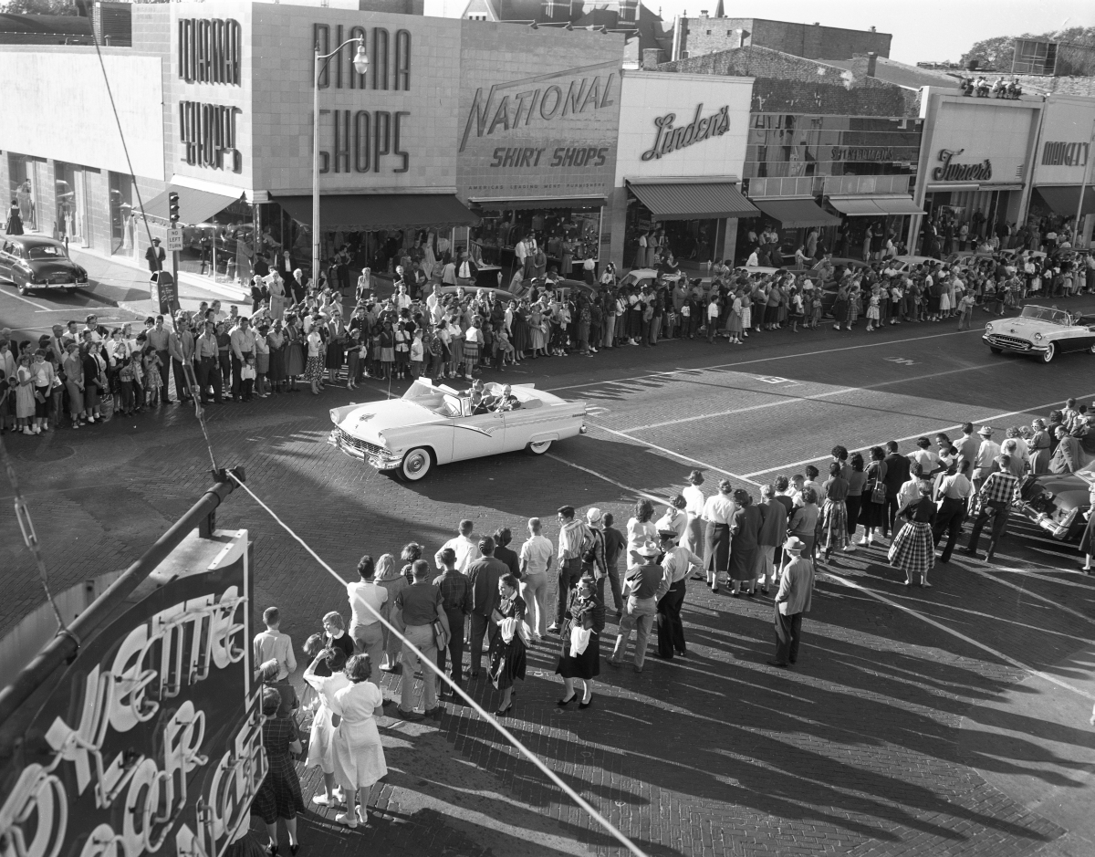 North Florida Fair parade proceeding south on Monroe Street.