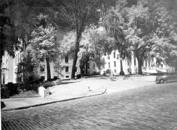 View of Florida's Capitol showing new wing - Tallahassee, Florida.