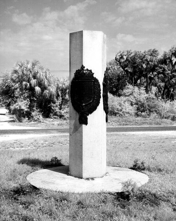 Ribault Monument in the Fort Caroline National Memorial - Jacksonville, Florida