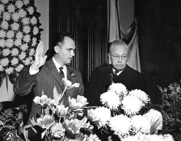 William V. Chappell taking the oath as Speaker of the House from Supreme Court Justice Elwyn Thomas - Tallahassee, Florida.