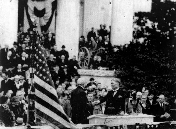 Governor Frederick Preston Cone taking the oath of office - Tallahassee, Florida.