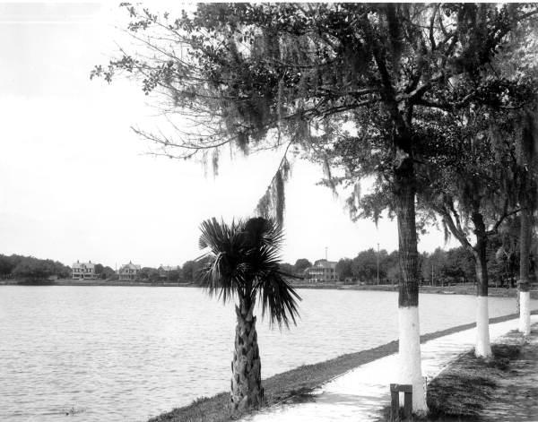 Looking across Lake Lucerne - Orlando, Florida.