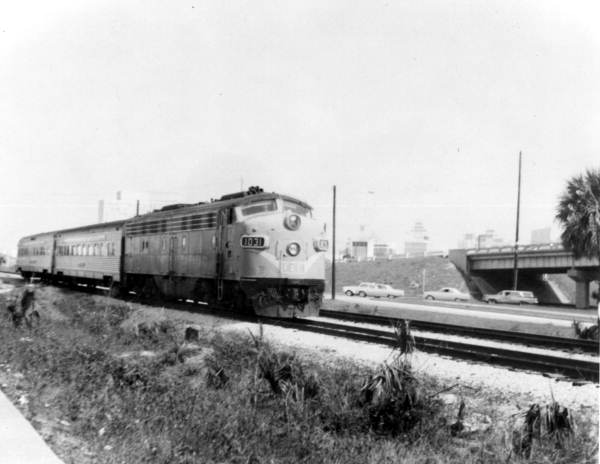 Florida Memory - Florida East Coast Railway passenger train leaving