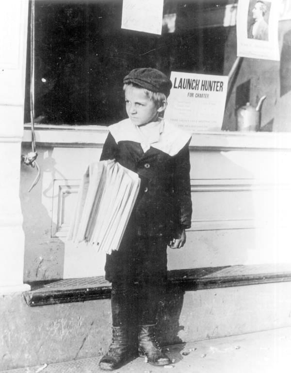 Paperboy George Greentree, age 6 - Jacksonville, Florida.