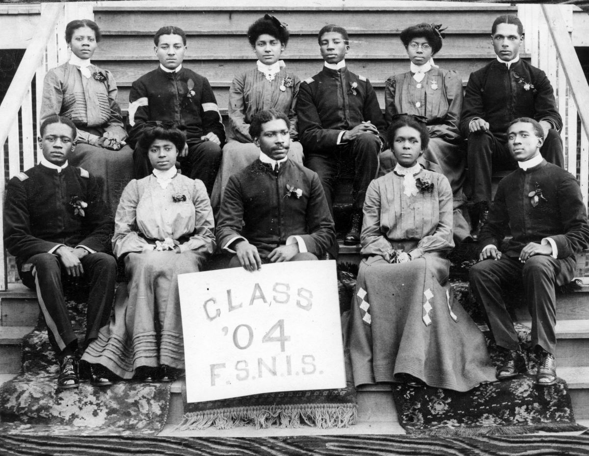 Florida State Normal and Industrial School class of 1904 portrait - Tallahassee, Florida.