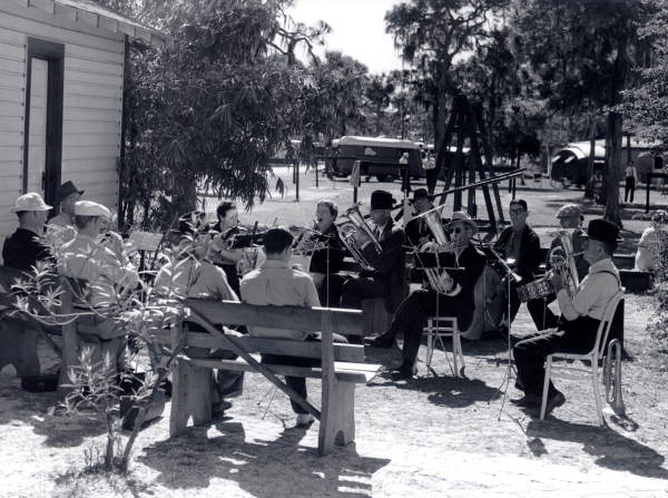 A band performing at a trailer camp - Sarasota, Florida.