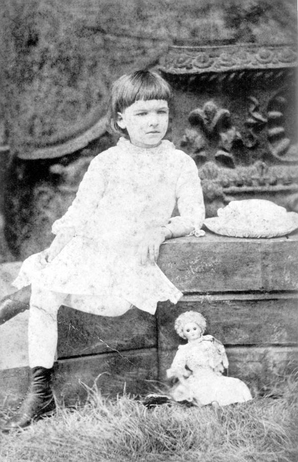 Seated Sarah Everett Lewis poses for a photo - Tallahassee, Florida.