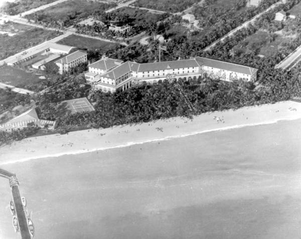 Aerial view of the Casa Marina Hotel - Key West, Florida.