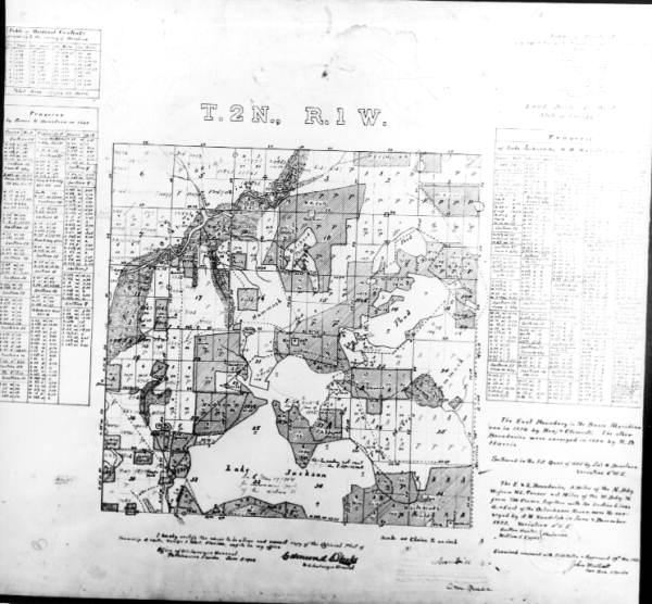 Florida Memory - Map of Tallahassee township 2 north, range ...