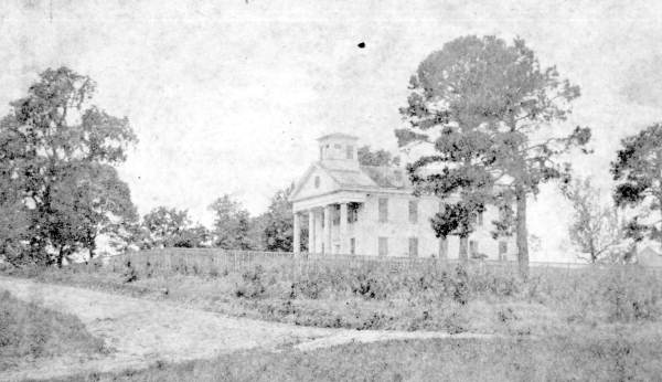 The first building at West Florida Seminary - Tallahassee, Florida.