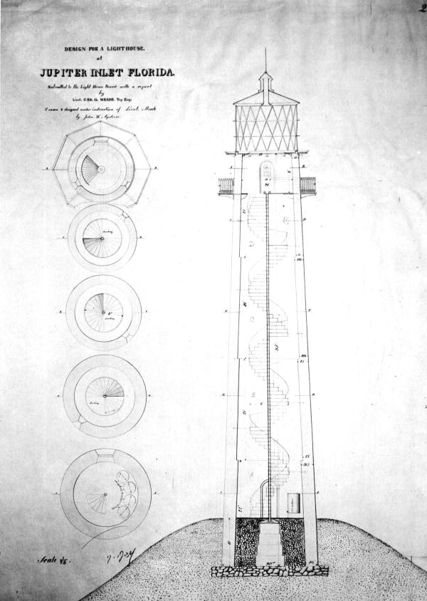 George G. Meade's design for the lighthouse - Jupiter Inlet, Florida.