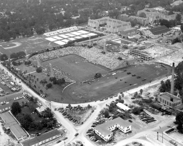 Aerial view of the UF's Florida Field looking northwest - Gainesville, Florida.