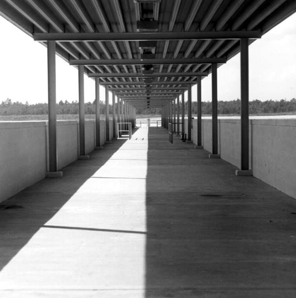 Looking south from terminal of the new Tallahassee municipal airport.