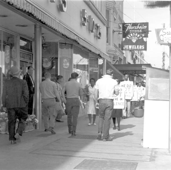 Boycott and picketing of downtown stores - Tallahassee, Florida.