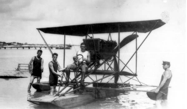 "Unidentified men with ""skimmer"" - Pensacola, Florida."