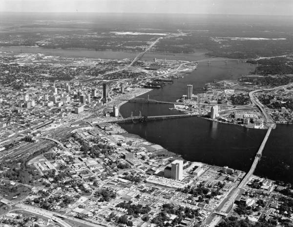Aerial view of Jacksonville.