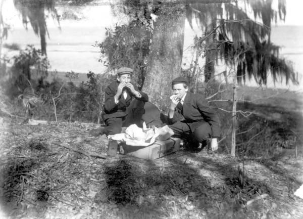 Boys on a picnic - Jacksonville, Florida.