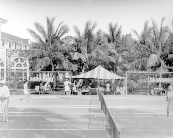 Tennis players at the Casa Marina Hotel - Key West, Florida.