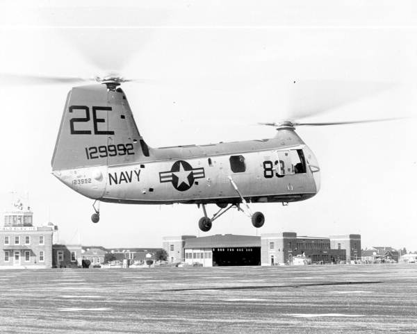 Pilot training helicopter at the Pensacola Naval Air Station.