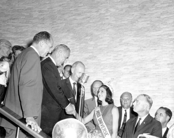Vice President Lyndon B. Johnson meeting Miss Universe - Miami Beach, Florida