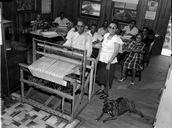 Group portrait of blind African Americans - Jacksonville, Florida.