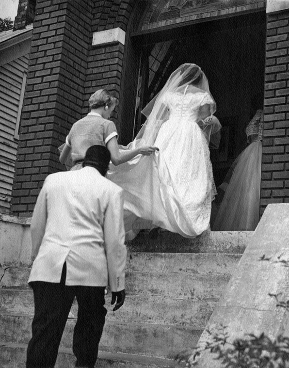 Delores Tookes entering the Bethel AME Church in Tallahassee for her marriage to Elihu McCoy.