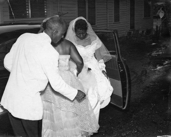 Elihu and Delores McCoy at the Tookes Hotel in Frenchtown on their wedding day.