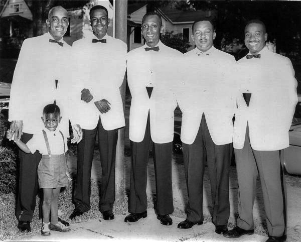 Elihu McCoy with groomsmen on his wedding day.