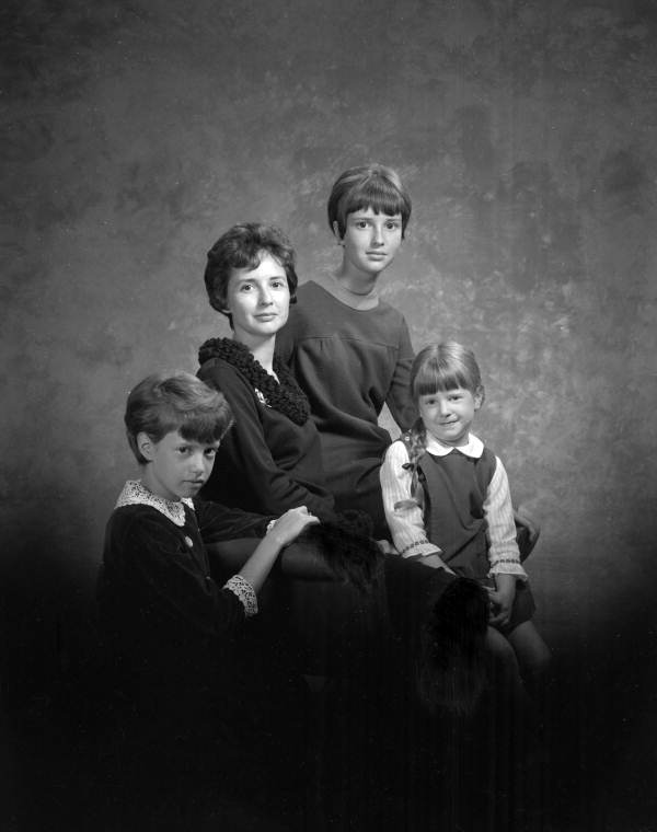 Portrait of author Betty Davis Miller with her daughters - Tallahassee, Florida.