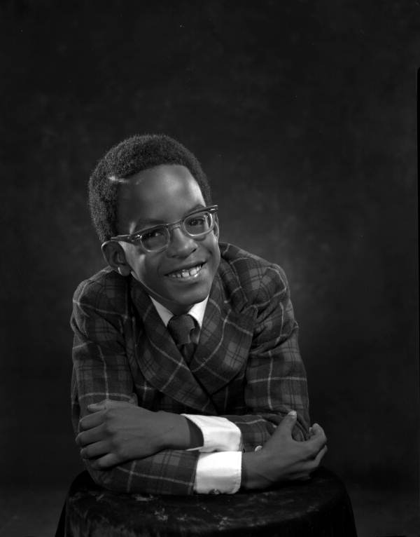 Portrait of 7-year-old Byron Greene - Tallahassee, Florida.
