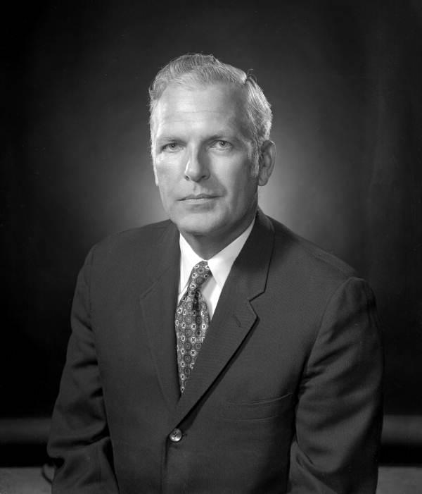 Portrait of Florida State Bank of Tallahassee founding member Dr. George N. Lewis.