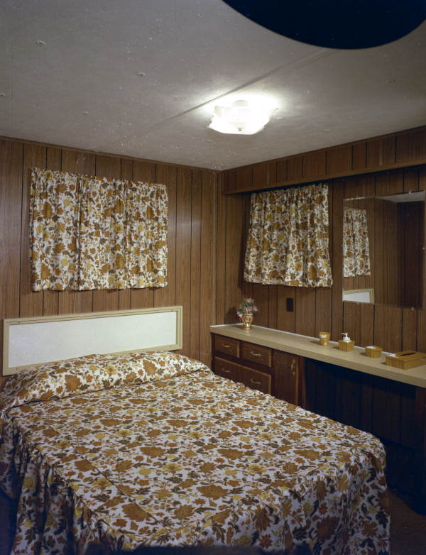 Interior view showing a mobile home bedroom - Tallahassee, Florida.