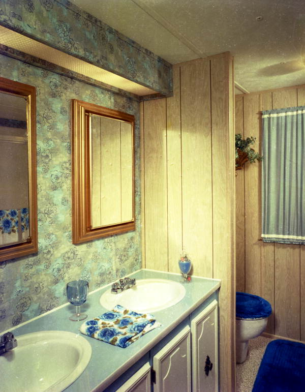 Interior view showing a mobile home bathroom - Tallahassee, Florida.