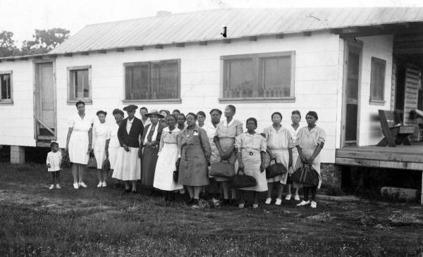 Group portrait of midwives in Jacksonville, Florida.