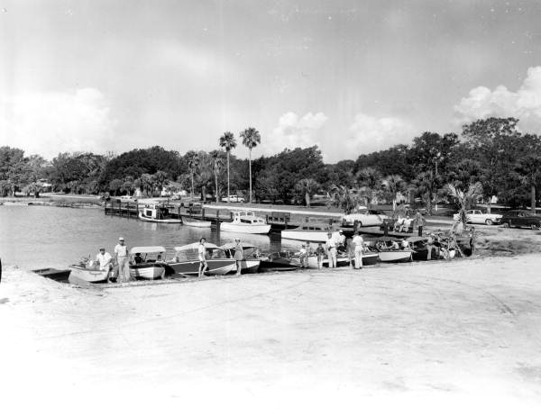 View of the boaters and their boats - Tallahassee, Florida .