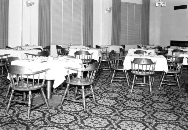 Dining room of the Floridan Hotel - Tallahassee, Florida.