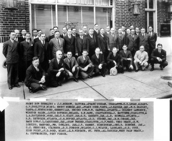 Great Southern Trucking Company employees in front of the Mayflower offices.