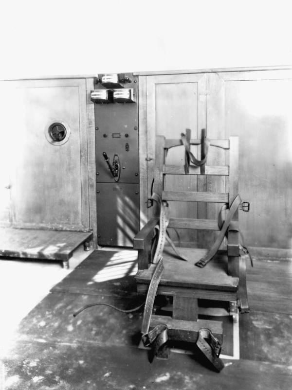 Electric chair at the Raiford Prison.
