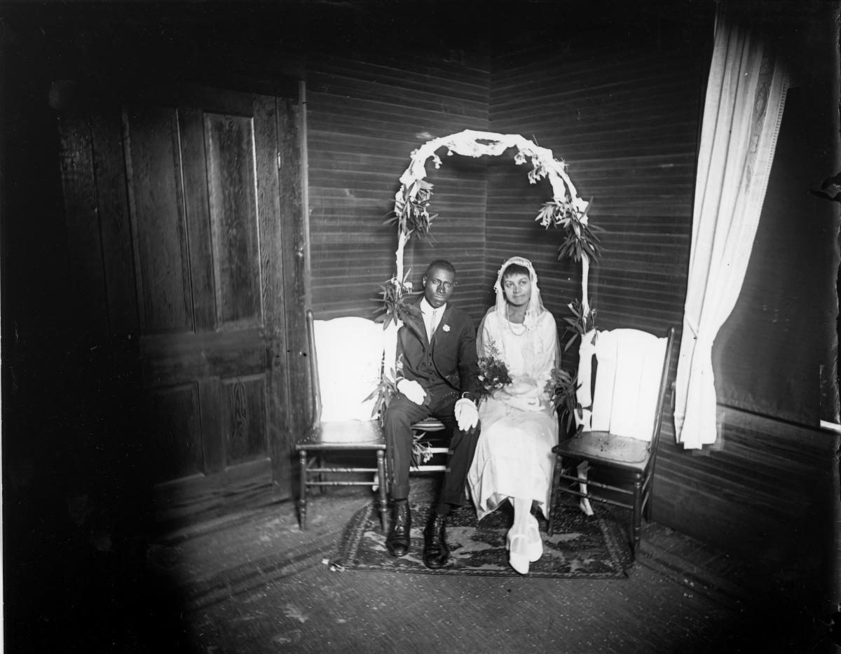 Eli and Teresa Bennett on their wedding day.